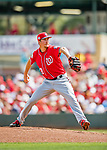 24 February 2019: Washington Nationals pitcher Erick Fedde on the mound to start a Spring Training game against the St. Louis Cardinals at Roger Dean Stadium in Jupiter, Florida. The Nationals defeated the Cardinals 12-2 in Grapefruit League play. Mandatory Credit: Ed Wolfstein Photo *** RAW (NEF) Image File Available ***