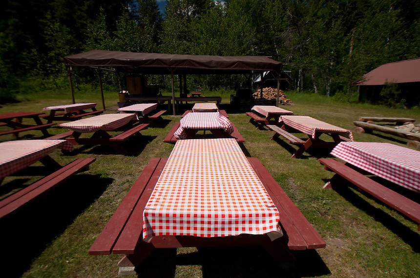 Picnic Grounds at Sun Mountain Lodge, Winthrop, Washington, US