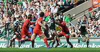 Twickenham, GREAT BRITAIN, Exiles's Topsey OJO, attacking, with the ball, during the Heineken, Semi Final, Cup Rugby Match,  London Irish vs Toulouse, at the Twickenham Stadium on Sat 26.04.2008 [Photo, Peter Spurrier/Intersport-images]