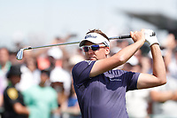 Ian Poulter (ENG) tees off on the first hole during the third round of the 118th U.S. Open Championship at Shinnecock Hills Golf Club in Southampton, NY, USA. 16th June 2018.<br /> Picture: Golffile | Brian Spurlock<br /> <br /> <br /> All photo usage must carry mandatory copyright credit (&copy; Golffile | Brian Spurlock)