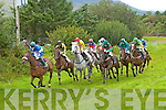 Dingle Jockey Jack Kennedy recorded his 66th win of the season at the Cahersiveen Races on Sunday with wins on Mollys Dream and Rock Hopper  seen here third from the left on Darbys Dream in the Ballycarbery Plate & Paddy Cournane Cup.