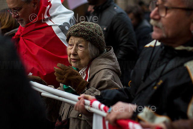 Lidia Menapace (Antifascist Partizan. Member of the Partigiani: the Italian Resistance during WWII).<br />