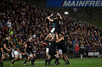 Lineout action during the Rugby Championship match between the New Zealand All Blacks and South Africa Springboks at QBE Stadium in Albany, Auckland, New Zealand on Saturday, 16 September 2017. Photo: Shane Wenzlick / lintottphoto.co.nz