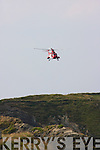The Coast Guard Helicopter doing a search and Rescue at Ballybunion.