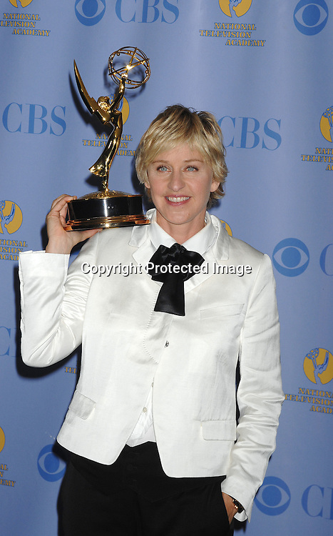 Ellen DeGeneres..posing for photographers in the Press Room at The 34th Annual Daytime Emmy Awards on June 15,2007 at The ..Kodak Theatre in Hollywood, California. ..Robin Platzer, Twin Images......212-935-0770