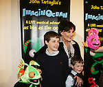 Another World's Linda Dano with Dorsel (L) and Bubbles at the opening night of John Tartaglia's Imaginocean, a new family undersea musical adventure on March 31, 2010 at New World Stages, New York City, New York. John Tartaglia's ImaginOcean is an interactive family show - a magical, musical undersea adventure for kids of all ages. Tank, Bubbles, and Dorsel are three best friends who just happen to be fish, and they're about to set out on a remarkable journey of discovery. And it all starts with a treasure map. As they swim off in search of clues, they'll sing, they'll dance, and they'll make new friends -- including everyone in the audience. Ultimately, they discover the greatest treasure of all -- friendship. Jam-packed with original music ranging from swing to R&B to Big Band, John Tartaglia's ImaginOcean is a blast rom the first big splash to the last wave goodbye. (Photo by Sue Coflin/Max Photos)
