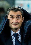 Coach Luis Ernesto Valverde Tejedor of FC Barcelona looks on prior to the Copa Del Rey 2017-18 Round of 16 (2nd leg) match between FC Barcelona and RC Celta de Vigo at Camp Nou on 11 January 2018 in Barcelona, Spain. Photo by Vicens Gimenez / Power Sport Images