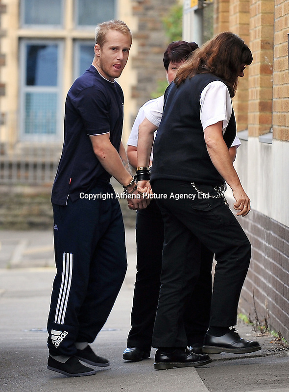 "Pictured: Dean Marcus Jones arrives at Magistrates Court in Swansea, Wales, UK. Saturday 17 September 2016<br /> Re: South Wales Police has charged 37-year-old Dean Marcus Jones with the murder of Alison Jane Farr-Davies and has appeared before<br /> Swansea Magistrates Court. The body of Alison Jane Farr-Davies was discovered in the Hafod area of Swansea.<br /> In a statement, Alison's family paid the following tribute: ""As a family we are totally devastated at the loss of our beautiful daughter, sister, aunt and niece.<br /> ""Ali was a very gentle, caring and loving person who doted on her two young nieces. She used to love them visiting her and spending time on the beach together.<br /> ""Ali was always helping others and would go out of her way to help people who were less fortunate than her. She loved animals and took in her beloved dog Max from an animal rescue centre as she couldn't bear to see him alone."