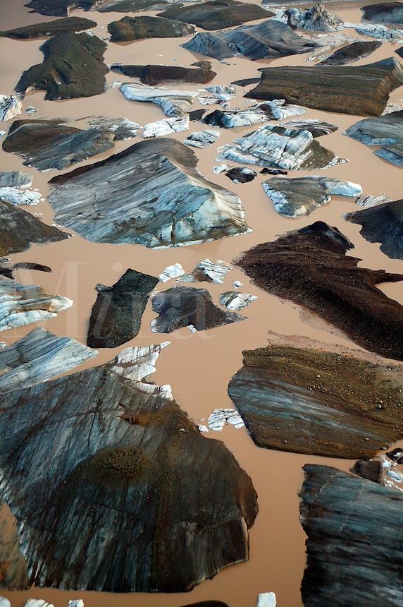 Icebergs from the Nizina Glacier, Wrangell-St. Elias National Park and Preserve, Alaska