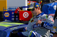 Feb 10, 2007; Daytona, FL, USA; Nascar Nextel Cup driver Jimmie Johnson (48) during practice for the Daytona 500 at Daytona International Speedway. Mandatory Credit: Mark J. Rebilas