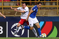 Konrad Michalak of Poland, Federico Chiesa of Italy <br /> Bologna 19/06/2019 Stadio Renato Dall'Ara  <br /> Football UEFA Under 21 Championship Italy 2019<br /> Group Stage - Final Tournament Group A<br /> Italy - Poland <br /> Photo Cesare Purini / Insidefoto