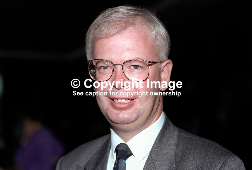 Jim Wallace, MP, Leader, Scottish Liberal Democratic Party, UK, 19920903JW1.<br /> <br /> Copyright Image from Victor Patterson, 54 Dorchester Park, Belfast, UK, BT9 6RJ<br /> <br /> t1: +44 28 9066 1296 (from Rep of Ireland 048 9066 1296)<br /> t2: +44 28 9002 2446 (from Rep of Ireland 048 9002 2446)<br /> m: +44 7802 353836<br /> <br /> e1: victorpatterson@me.com<br /> e2: victorpatterson@gmail.com<br /> <br /> The use of any of my copyright images is subject to my Terms &amp; Conditions.<br /> <br /> It is IMPORTANT that you familiarise yourself with them. They are available on my website, victorpatterson.com.<br /> <br /> None of my copyright images may be used on the Internet unless they are visibly watermarked, i.e. &copy; Victor Patterson within the body of the image. Metadata denoting my copyright must NOT be deleted. <br /> <br /> Web use is extra at currently recommended NUJ rates.