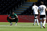 18th July 2020; Craven Cottage, London, England; English Championship Football, Fulham versus Sheffield Wednesday; A dejected Dominic Iorfa of Sheffield Wednesday as the referee awards Fulham a penalty
