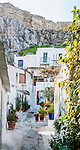 Houses in Anafiotika, the most picturesque neighborhood of Plaka, Athens, Greece