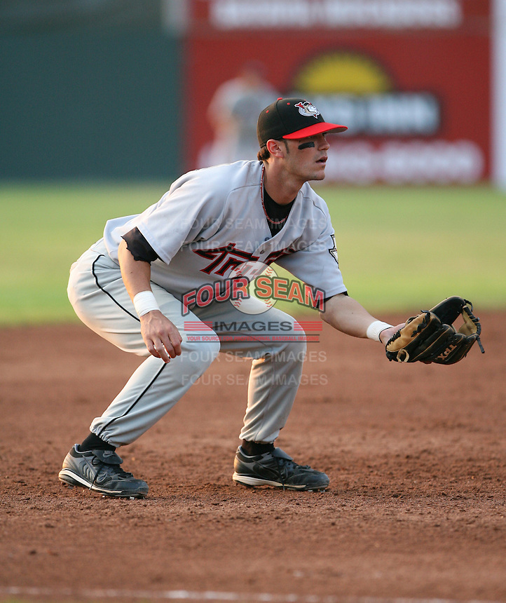 2007:  Craig Corrado of the Tri-City Valley Cats, Class-A affiliate of the Houston Astros, during the New York-Penn League baseball season.  Photo by Mike Janes/Four Seam Images