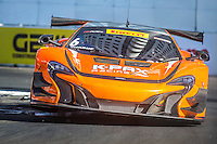 Robert Thorne, #6 McLaren 650S GT3, Pirelli World challenge race, Long Beach Grand Prix, Long Beach, CA, April 2015.  (Photo by Brian Cleary/ www.bcpix.com )