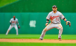24 May 2009: Baltimore Orioles' second baseman Brian Roberts in action during a game against the Washington Nationals at Nationals Park in Washington, DC. The Nationals rallied to defeat the Orioles 8-5 and salvage a win in their interleague series. Mandatory Credit: Ed Wolfstein Photo