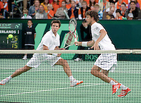 08-05-10, Tennis, Zoetermeer, Daviscup Nederland-Italie, Dubbles Robin Haase(R) and Igor Sijsling