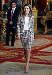 Princess Letizia of Spain attends the Royal Palace reception on the National Military Parade.October 12,2012.(ALTERPHOTOS/Pool)