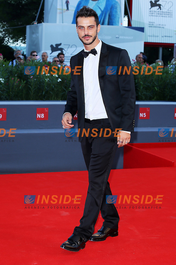 VENICE, ITALY - SEPTEMBER 09: Andrea Montovoli attends '11 Minutes' Premiere during 72nd Venice Film Festival at Palazzo Del Cinema on September 9, 2015 in Venice, Italy. (Mark Cape/insidefoto)