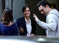 July 12, 2012  Keira Knightley and Adam Levine shooting on location for new VH-1 movie Can a Song Save Your Life? in New York City. &copy; RW/MediaPunch Inc. /*NORTEPHOTO*<br /> **SOLO*VENTA*EN*MEXICO**<br /> **CREDITO*OBLIGATORIO** <br /> **No*Venta*A*Terceros**<br /> **No*Sale*So*third**<br /> *** No*Se*Permite Hacer Archivo**<br /> **No*Sale*So*third**