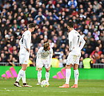 Real Madrid´s Lucas Vazquez and Cristiano Ronaldo  during 2015/16 La Liga match between Real Madrid and Atletico de Madrid at Santiago Bernabeu stadium in Madrid, Spain. February 27, 2016. (ALTERPHOTOS/Javier Comos)