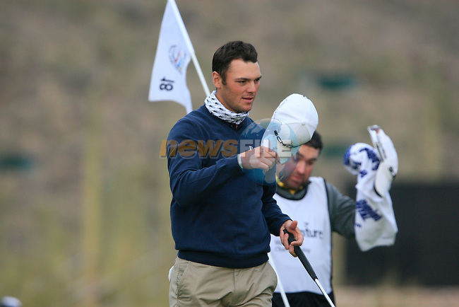 Martin Kaymer (GER) wins his match on the 18th hole during the Semi-Final Matches on Day 4 of the Accenture Match Play Championship from The Ritz-Carlton Golf Club, Dove Mountain, Saturday 26th February 2011. (Photo Eoin Clarke/golffile.ie)
