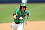 CHAPEL HILL, NC - MAY 11: Notre Dame's Ali Wester races to third base. The #4 Boston College Eagles played the #5 University of Notre Dame Fighting Irish on May 11, 2017, at Anderson Softball Stadium in Chapel Hill, NC in a 2017 Atlantic Coast Conference Tournament Quarterfinal Softball game. Notre Dame won the game 9-5 in eight innings.