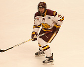 Dan Molenaar (UMD -3) - The University of Minnesota Duluth Bulldogs defeated the Harvard University Crimson 2-1 in their Frozen Four semi-final on April 6, 2017, at the United Center in Chicago, Illinois.