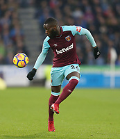 West Ham United's Arthur Masuaku<br /> <br /> Photographer Rob Newell/CameraSport<br /> <br /> The Premier League - Huddersfield Town v West Ham United - Saturday 13th January 2018 - John Smith's Stadium - Huddersfield<br /> <br /> World Copyright &copy; 2018 CameraSport. All rights reserved. 43 Linden Ave. Countesthorpe. Leicester. England. LE8 5PG - Tel: +44 (0) 116 277 4147 - admin@camerasport.com - www.camerasport.com