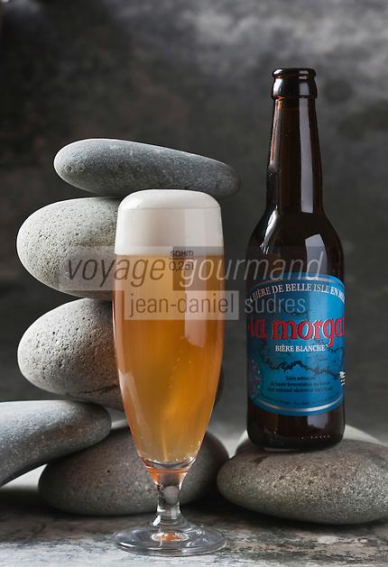 Europe/France/Bretagne/56/Morbihan/ Belle-Ile-en-Mer/Le Palais: Bière blanche artisanale de la Brasserie: La Morgat  //  France, Morbihan, Belle Ile en Mer, Le Palais, white craft beer brewery, The Morgat