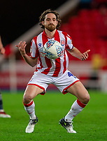 11th January 2020; Bet365 Stadium, Stoke, Staffordshire, England; English Championship Football, Stoke City versus Milwall FC; Joe Allen of Stoke City - Strictly Editorial Use Only. No use with unauthorized audio, video, data, fixture lists, club/league logos or 'live' services. Online in-match use limited to 120 images, no video emulation. No use in betting, games or single club/league/player publications
