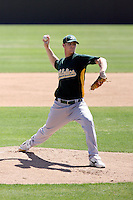 Kyle Christensen, Oakland Athletics 2010 extended spring training..Photo by:  Bill Mitchell/Four Seam Images.