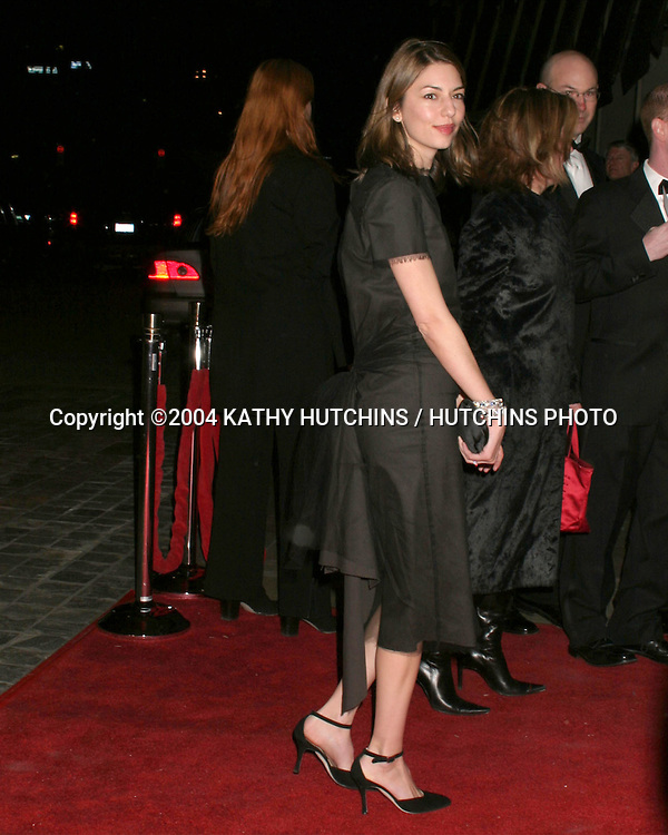 ©2004 KATHY HUTCHINS / HUTCHINS PHOTO.DIRECTOR'S GUILD AWARDS.CENTURY PLAZA HOTEL.CENTURY CITY, CA.February 7, 2004..SOFIA COPPOLA