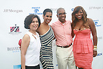Loida Nicholas Lewis, Leslie Lewis Sword, Reginald Canal and Bershan Shaw-Bradley Attend The Fourth Annual Reginald F. Lewis Foundation Gala Luncheon Held at The Reginald F. Lewis Estate, East Hampton New York,  6/25/11