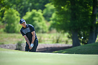 Jordan Spieth (USA) chips on to 2 during Round 1 of the Zurich Classic of New Orl, TPC Louisiana, Avondale, Louisiana, USA. 4/26/2018.<br /> Picture: Golffile | Ken Murray<br /> <br /> <br /> All photo usage must carry mandatory copyright credit (&copy; Golffile | Ken Murray)