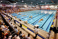 Swimming champion Michael Phelps and other top athletes drew crowds at the USA Swimming 2011 Charlotte UltraSwim Grand Prix meet, held May 12-15 in Charlotte, NC. The event, hosted by SwimMAC Carolina,  has been a popular athletic event in Charlotte since its inception in 1985. At the event, Phelps moved up to fifth in the world in the men's 200 back with the time of 1:57.20.