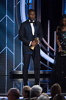 Mahershala Ali accepts the Golden Globe Award for BEST PERFORMANCE BY AN ACTOR IN A SUPPORTING ROLE IN ANY MOTION PICTURE for his role in &quot;Green Book&quot; at the 76th Annual Golden Globe Awards at the Beverly Hilton in Beverly Hills, CA on Sunday, January 6, 2019.<br /> *Editorial Use Only*<br /> CAP/PLF/HFPA<br /> Image supplied by Capital Pictures