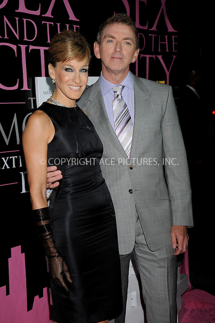 WWW.ACEPIXS.COM . . . . .....September 18, 2008. New York City.....Actress Sarah Jessica Parker and director Michael Patrick King attends the 'Sex and the City' DVD Launch Party held at the New York Public Library on September 19, 2008 in New York City...  ....Please byline: Kristin Callahan - ACEPIXS.COM..... *** ***..Ace Pictures, Inc:  ..Philip Vaughan (646) 769 0430..e-mail: info@acepixs.com..web: http://www.acepixs.com
