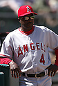 Alfredo Griffin in action during the Los Angeles Angels v. Oakland Athletics game April 16, 2005.....Los Angeles Angels lost 0-1.....Rob Holt/ SportPics