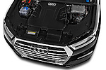 Car Stock 2016 Audi Q7 S Line 5 Door Suv Engine high angle detail view
