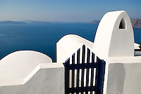 The Greek Island of Santorini is an ancient caldera and lies at the southern most part of a group of 220 islands known as the Cyclades. Its crescent shape was created by one of the largest volcanic eruptions in recorded history around 3600 years ago.