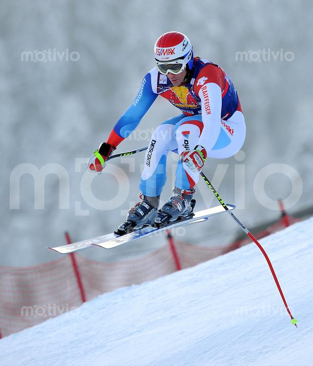 Ski Alpin;  Saison 2007/2008  22.01.2009 69. Hahnenkamm Rennen,  Abfahrt   2. Training   Tobias Gruenenfelder (SUI)