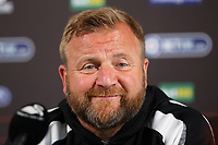 2018 08 09 Swansea City FC press conference at Fairwood, Wales, UK