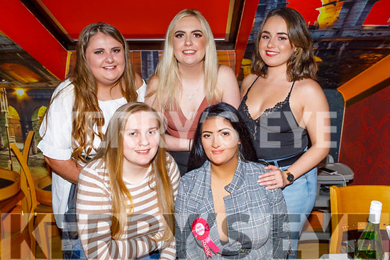 Sabrina Loughnane from Listowel celebrating her birthday in Ristorante Uno on Saturday.<br /> Seated l to r: Sabrina Loughnane and Donna Quirke.<br /> Back l to r: Jade Sanderson, Ciagh O'Gorman and Katie Donoghue