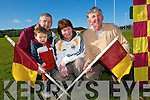 Community club: David and Oisin O'Regan, with Mary Ahern and Ted Halpin at the Duagh GAA pitch.   Copyright Kerry's Eye 2008