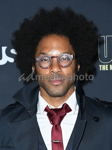 "22 February 2018 - Hollywood, California - Jonathan Fernandez. USA Network's ""Unsolved: The Murders of Tupac & The Notorious B.I.G."" held at Avalon Hollywood. Photo Credit: Birdie Thompson/AdMedia"