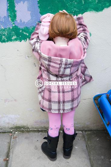 Unhappy little girl,