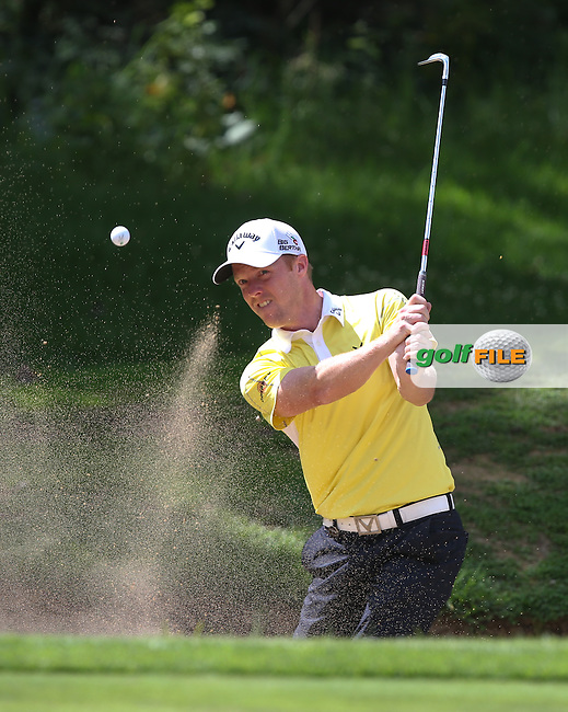 David Horsey (ENG) out of the bunker on 12 and holds for par during Round Three of The Joburg Open 2014 at the Royal Johannesburg & Kensington Golf Club, Gauteng, South Africa. Picture:  David Lloyd / www.golffile.ie