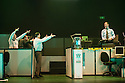 London, UK. 23.10.2013. Kristjan Ingimarsson / Neander present BLAM! at the Peacock Theatre. Picture shows: Lars Gregersen, Janus Elsig, Didier Oberle and Kristjan Ingimarsson. Photograph © Jane Hobson.